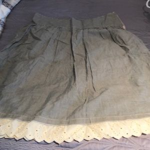 Women's lined summer skirt